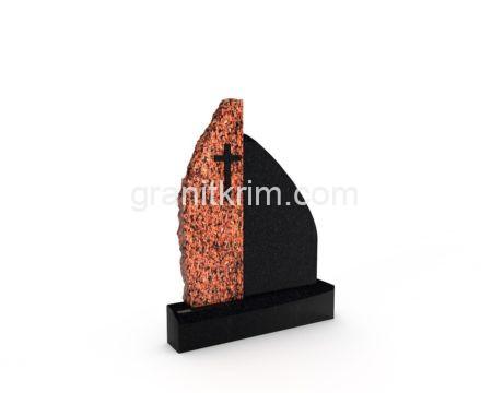 красный памятник на могилу