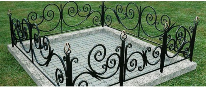 Размер могилы и оградки на кладбище